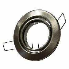 Einbaustrahler Einbauspot Gebürstet Rund schwenkbar mit oder ohne LED GU10 GU5.3