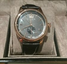 Links Of London Regent Men's Watch Black Rose Gold Bnib 6020.1150