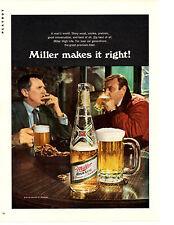 1970 Miller High Life Beer ~ Original Print Ad