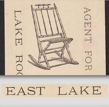East Lake Rocker 1800's Furniture Providence RI Eastlake Victorian Trade Card