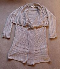 """NEW LOOK WOMENS BROWN OVERSIZED CARDIGAN.SIZE LARGE. 42"""" CHEST 38"""" LONG"""