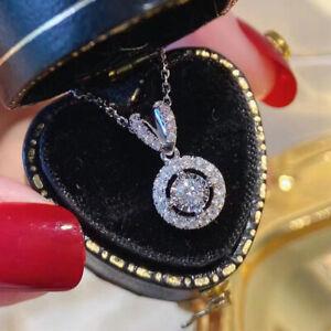925 Silver Wedding Necklaces Pendants Gorgeous Cubic Zirconia Women Jewelry Gift