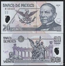 MEXICO 20 PESOS P116 2003 POLYMER *V* UNC LATINO LION SNAKE CURRENCY MONEY NOTE