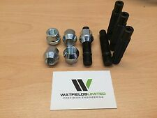 5x M12x1.5 Wheel Stud & Nut Conversion Kit 75mm Overall Length
