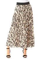 Animal Print Pleated Skirt - Women Roman Originals