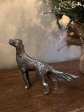 Pewter Irish English Setter Dog Figurine 2 3/4�