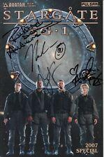AVATAR STARGATE SG1 '2007 SPECIAL' COMIC BOOK - FULL CAST SIGNED!