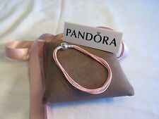 New Pandora PINK Large Multi Strand Cord Bracelet 590715CSP M3 Gift set option