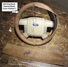 2008 Ford F150 2WD SuperCrew Crew-Cab King Ranch Leather Steering Wheel Cover