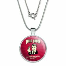 """1"""" Pendant w/ Silver Plated Chain Jello Shot Other Favorite Thing Jiggles"""
