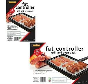 Toastabags Planit Fat Controller GR3 Pack of 3 & 10 35*20cm Grill/Oven Pads