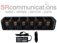 NEW MOTOROLA HKPN4007B CLP 6 UNIT MULTI GANG CHARGER CLP1010 CLP1040 CLP1060