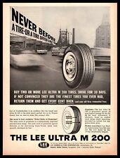 1961 Lee Rubber & Tire Corp. Conshohocken PA Utra M 200 Tires Vintage Print Ad