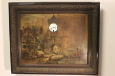 Uhr, Wanduhr Bilderuhr Rahmen Musikwerk Spieluhr 67x55 cm Gründerzeit *2632