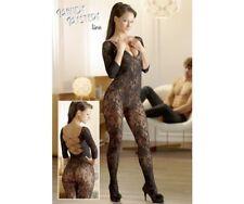 Ensemble Lingerie Mandy Mystery Black Net Lace Catsuit S-l