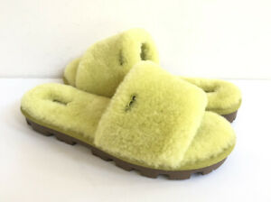 UGG COZETTE ELECTRIC LIME SHEARLING MOCASSIN SLIPPERS US 7 / EU 38 / UK 5