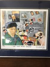 "Nelson De La Nuez ""Van Gogh's Mickey Collection Signed 1996 Lithograph 16"" X 14"