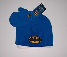 DC COMICS BATMAN TODDLERS BOY'S WINTER BEANIE CAP & MITTEN SET NWT