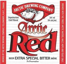 Arctic Brewing Co. Red Yellowknife Canada Beer Label