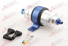 External Fuel Pump 044 For Bosch+Billet Bracket Blue+10AN Inlet 10AN Outlet Blue
