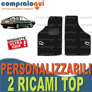 PER LANCIA BETA MONTECARLO TAPPETINI AUTO SU MISURA MOQUETTE + 2 RICAMI TOP