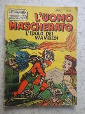 L'UOMO MASCHERATO IL VASCELLO ANNO I n° 5 DEL 1958