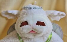 "Shari Lewis Baby Lamb Chop Hand Puppet Plush Angel w/ Silver Wings 15"" EUC"