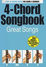 4-Chord Songbook Great Hits Play UB40 Joni Mitchell Guitar Lyrics Music Book