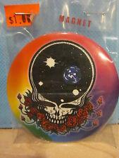 """Grateful Dead Black Skull with Roses 3"""" Magnet"""