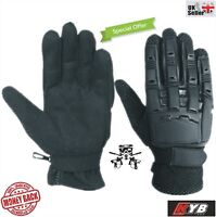 Paintball Full Finger Gloves Hunting Airsoft Tactical Plastic Back Armour GLOVES