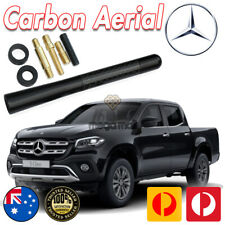ANTENNA SHORT BEE STING FOR MERCEDES BENZ XCLASS X-CLASS 2018> BLK CARBON 7.5C