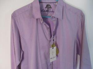 Beautiful Small Lavender Colored ROBERT GRAHAM 100% Cotton Flip-Cuff Shirt-NWT