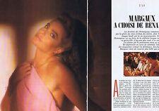 COUPURE DE PRESSE CLIPPING 1988 MARGAUX HEMINGWAY  (5 pages)