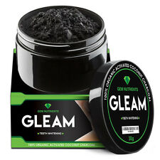Gleam 100% Organic Activated Charcoal Powder for Teeth Whitening - 30g