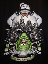 T Shirt - Who You Gonna Call - Ghostbusters Stay Puft Slimer Zuul Vinz - Black M