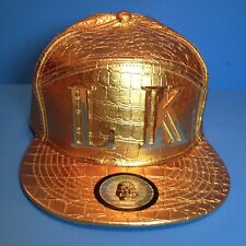New, Gold LK Last Kings Heavyweight 6 Panel Strapback Baseball Hat Cap Snapback