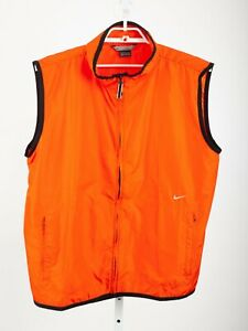 Nike Safety Orange Polyester Full Zip Men's Vest with Zippered Pockets Size XL