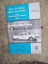 1957 Ford Forum Car Service Tips Auto Mechanic Manual LOTS MORE IN OUR STORE  R