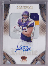 2011 Crown Royale Kyle Rudolph  On Card Auto 3 Color Patch Rc Serial # to 299