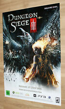Dungeon Siege III 3 Rare Promo Double Sided Poster Xbox 360 Playstation 3 2011
