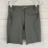 Lole Womens UPF 50+ Nylon Blend Bermuda Shorts Size 4 Gray Stretch Quick Dry
