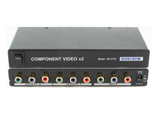 1x2 (1:2) 2-Way Component RCA Video Splitter Distribution Amplifier SB-3776RCA