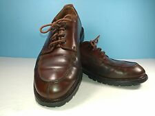 Brooks Brothers Split Toe Apron Lace Up Brown Leather Casual Dress Shoes Men 9 M