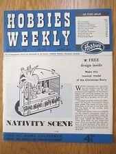 Vintage HOBBIES WEEKLY Magazine November 19 1958 Make a Nativity Scene & Pattern