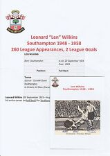 LEN WILKINS SOUTHAMPTON 1948-1958 ORIGINAL HAND SIGNED ANNUAL CUTTING