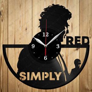 Vinyl Clock Simply Red Original Vinyl Record Clock Art Home Decor Handmade 4866