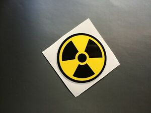 Nuclear / Radioactive symbol  sticker/decal X2