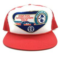 NASCAR Richard Petty 1992 Fan Appreciation Tour Red & White Snapback Cap Hat