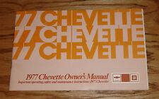 Original 1977 Chevrolet Chevette Owners Operators Manual 77 Chevy