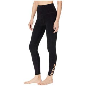 Beyond Yoga Crossed High Waisted Midi Legging  Darkest Night  #21